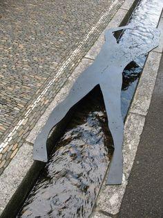 Modernist sculpture & water as an urban amenity Freiburg im Breisgau, #Blackforest