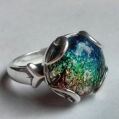 Amber Urn Ring in 925 Sterling Silver Ashes Keepsake Size 7