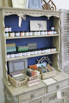 Country Grey with Dark Wax display piece featured by Perfectly Imperfect  Chalk Paint® decorative paint by Annie Sloan.