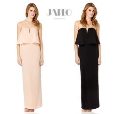 We are so in love with this gorgeous piece!  Introducing #JarloLondon Poppy Dress <3 Beautiful soft plunge bandeau maxi dress features thigh split, V-shape detail and padded cups. Made out of silky feel fabric and securely adjusting with an inner gripper tape.  Available now in nude and black on www.jarlolondon.com!