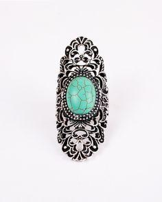 Tight Turqoise.  #ring #jewelry #silver #filigree