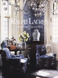 Chinoiserie Chic: Blue and White - Ralph Lauren great coffee table book! Great gift gor the holidays! Blue Rooms, White Rooms, Blue And White Living Room, Home Interior, Interior Decorating, Interior Designing, Interior Ideas, Blue And White China, White Houses