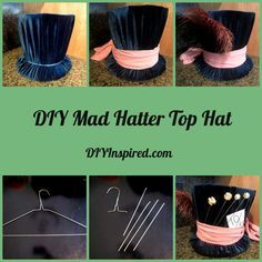 DIY Mad Hatter Top hats (for the boys) & Queen of Hearts crown (for the…