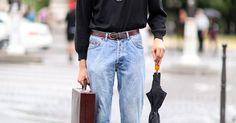 0.1% — vogueltalia: Street style @ Paris Fashion Week,... | Something | Pinterest | Men street styles, Denim pants and Bijoux