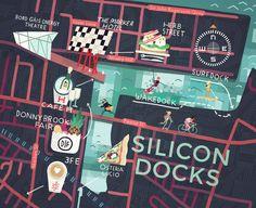 Steve McCarthy - Map of Silicon Docks Dublin