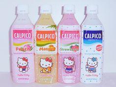 Japan Japanese Drink Calpico Calpis Hello Kitty Peach Mango Strawberry