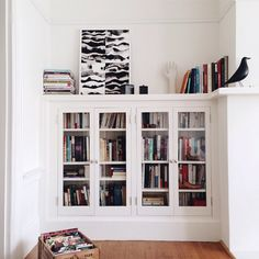 10 Pics That Prove Interior Envy Is So Very Real #refinery29  http://www.refinery29.com/french-by-design#slide1  Now this is a perfect bookshelf.