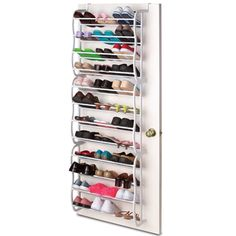 Sunbeam Over the Door 36 Pair Shoe Rack | Overstock.com Shopping - The Best Deals on Storage & Organization
