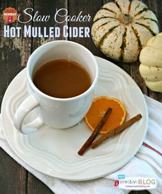 Slow Cooker Hot Mulled Cider   Making hot drinks in your slow cooker and crockpot is the best kept secret! This Hot Mulled Cider is great for game day or holiday parties. See the recipe and more on TodaysCreativeLife.com