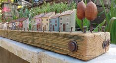 Miniature wooden houses Upcycled by Maria