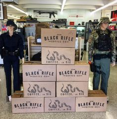 BLACK RIFLE COFFEE COMPANY - Love seeing such a big BRCC display! Check them out! Tag us so we can see your posts! @295tactical #BlackRifleCoffee #AmericasCoffee