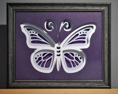 Girls Room Purple Butterfly Wall Art in Eco by InnerPiecesGallery, $120.00