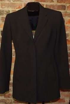 Express Stretch Career Women's Sz 7/8 Black Blazer/Jacket w/Hidden Button Front #Express #Blazer