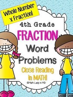 Ever wish your students would read whole number times fraction word problems multiple times to understand and solve the problem? This collection of 10 common core story structure multiplication word problems are on a graphic organizer that uses close reading strategies.