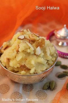 how to make sooji halwa, rava sheera recipe, kesari bath recipes, rava kesari recipe, Indian Dessert Recipes, Indian Sweets, Sweets Recipes, Cooking Recipes, Indian Recipes, Indian Snacks, Yummy Recipes, Delicious Desserts, Recipies