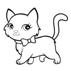 dibujos de gatos para colorear