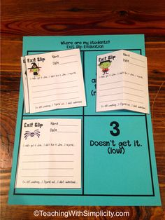 When used correctly exit slips can give you a ton of information. Find out the The How and Why of the Exit Slip here! Great information on formative exit slips. Helps teachers get the most out of quick and easy exit slips. Teacher Tools, Teacher Hacks, Teacher Resources, Teaching Ideas, Teacher Stuff, Teacher Gifts, Classroom Organization, Classroom Management, Classroom Ideas