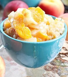 INGREDIENTS 1 cup self rising flour 1 cup skim milk 1 cup Splenda 1 can peaches in own juice Dash cinnamon Butter flavored cooking spray HOW TO MAKE: Mix first 3, fold in peaches, pour into greased (spray with cooking spray) dish and then give a light spray of cooking spray on top. Add a dash of cin…