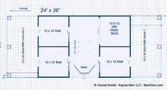 Barn Plans - Ten Stall Horse Barn With Tack and Feed. Large Wash Rack and A nice Porch For Humans. Horse Barn Plans for sale. Large selection of Horse Barn Plans For Sale. Horse Stables, Horse Farms, Horse Farm Layout, Small Horse Barns, Horse Barn Designs, Horse Barn Plans, Dream Barn, Exotic Pets, Farm Life