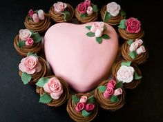 Pink chocolate heart
