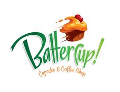 Logo for cupcake and coffee shop by gcsgcs
