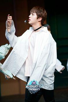 Jin ❤ BTS At MCOUNTDOWN (170223) #BTS #방탄소년단