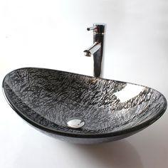 Stunning Glas Waschbecken Modern Blatt Design mit g nstiger Preis kaufen