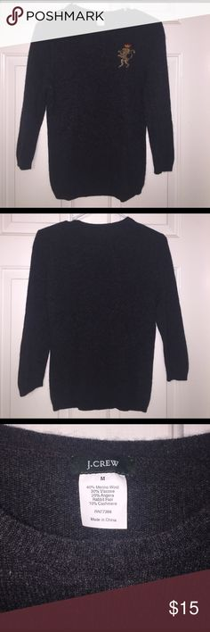 J. Crew M Wool Angora Sweater Gently used J. Crew sweater. Size: medium. Great condition. Stretchy. Length: 24. J. Crew Sweaters Crew & Scoop Necks