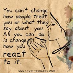 You can't change people...