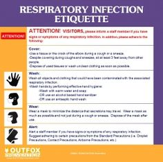 Respiratory Infection Etiquette Poster OUTFOX Prevention