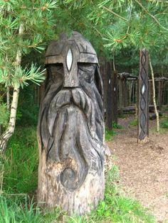 Viking Longship Wood Burning with Odin's Rune. Tree Carving, Wood Carving Art, Wood Art, Wood Carvings, Viking Life, Viking Art, Viking House, Norse Vikings, Asatru