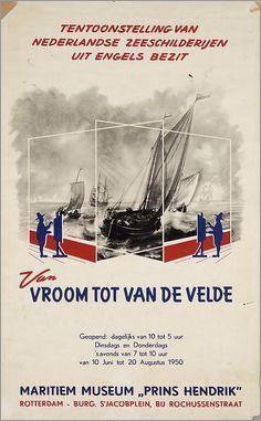 Tentoonstelling van Nederlandse zeeschilderijen in Engels bezit. Van Vroom tot van de Velde. Maritiem Museum Prins Hendrik Rotterdam