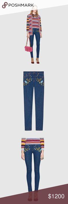 Gucci Floral Denim Gucci Denim Jeans Gucci Jeans Skinny