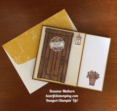 Stampin Up At Home With You Congratulations Card - Rosanne Mulhern stampinup