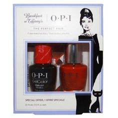 OPI Breakfast at Tiffany's Collection Holiday 2016 GelColor Gel Polish + Infinite Shine Duo #1