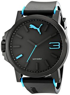 Puma Ultrasize Gents - blue Men Pu Uhr - schwarz/blau