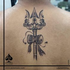 Trishul Tattoo - Ace Tattooz Lord Customised Trishul tattoo sketched and Tattooed by our Ace Artist done at AceTattoozMumbai I Bull Tattoos, Arm Tattoos, Sleeve Tattoos, Body Art Tattoos, Tatoos, Buddha Tattoos, Hindu Tattoos, Om Trishul Tattoo, Trishul Tattoo Designs