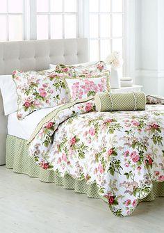 quilt comforter set queen size bedding 4 pieces garden floral multi color new
