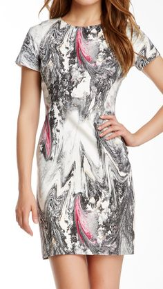 I need this!!!! Rachel Roy Abstract Print Dress #dress #clothing