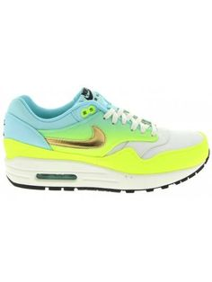 Air Max 1 Womens Premium in Ivory/Metallic Gold-Volt-Hyper Turqoise