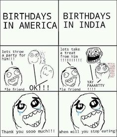 Birthday in America And Birthday in India