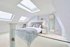 l-shaped loft conversion wimbledon : Modern bedroom by nuspace                                                                                                                                                      More