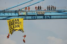 Greenpeace Indonesia activists climbed the crane of grab ship unloader, blocking the loading of coal for the the Cirebon Coal Power Plant in Indonesia, the world's second biggest exporter of coal. The protest is part of a global wave of actions demanding governments keep coal, oil and gas in ground, called Break Free, running from 4-15 May.