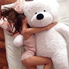 If Daddy loves me, He will get me a big teddy bear! Teddy Girl, Giant Teddy Bear, When Your Crush, Daddys Princess, Princess Diana, Daddy Bear, Snuggles, Girly Things, Cuddling