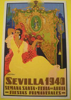 Cartel de Las Fiestas de Primavera de Sevilla 1940