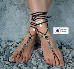 barefoot sandals Barefoot Beach Jewelry Barefoot shoes Beach Barefoot Beach, Barefoot Shoes, Bare Foot Sandals, Ceramic Beads, Beach Jewelry, Toe Rings, Hamsa, Anklets, Hand Crochet