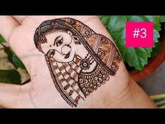How to draw simple bride using mehndi Henna Tattoo Designs Simple, Beginner Henna Designs, Full Hand Mehndi Designs, Henna Art Designs, Modern Mehndi Designs, Mehndi Designs For Girls, Mehndi Design Photos, Wedding Mehndi Designs, Mehndi Designs For Fingers