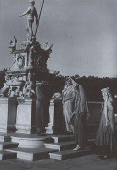 1920's women at fountain Malaga Cove Palos Verdes California.