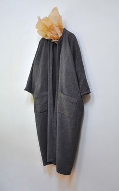 Amy Revier   Larkin Coat, wool, linen, & ramie,one of a kind garment, made entirely by hand (handwoven & hand sewn in London   available atDover Street Market)