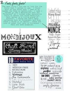 Pinecone: you can design your own blog header // the monbijoux font!